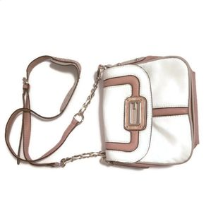 GUESS   Ladies CrossBody white & brown purse